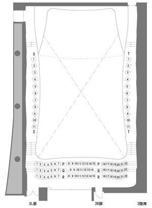 コンサートホール 2F 座席表